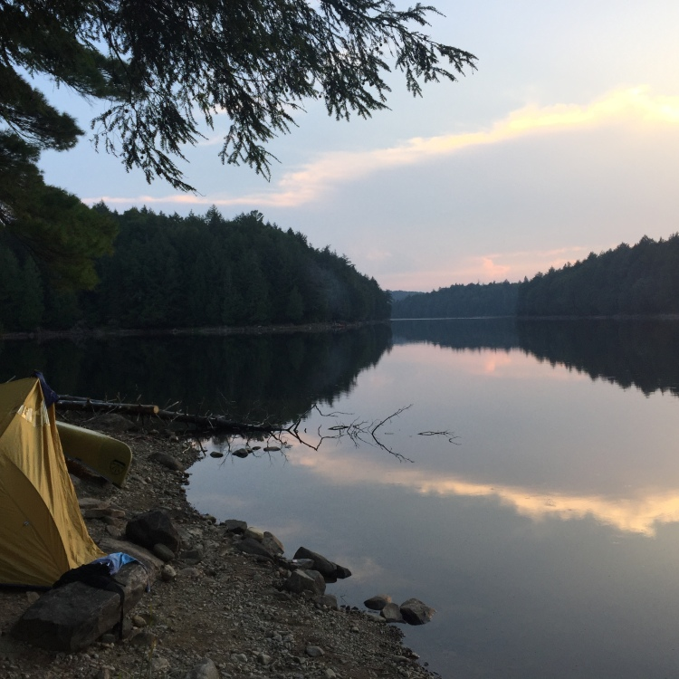 Portaging in Algonquin Park