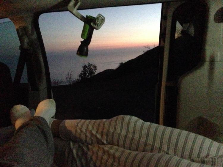 Free Camping Mountainside on California Big Sur Coast