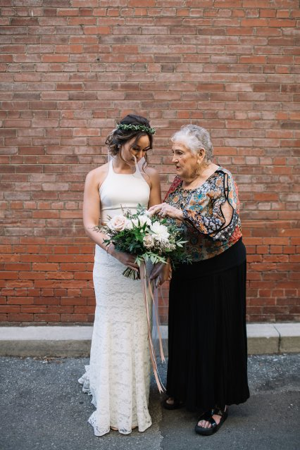 Bride and Grandma