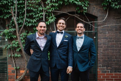 Groom and his brothers