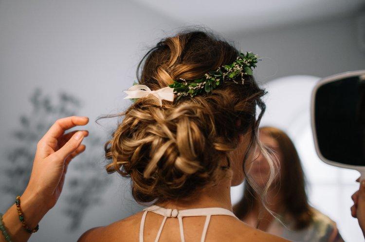 Bohemian bridal hairstyle