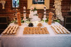 Dessert table at bohemian wedding caffino ristorante