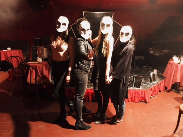 Sleep No More guests wearing masks